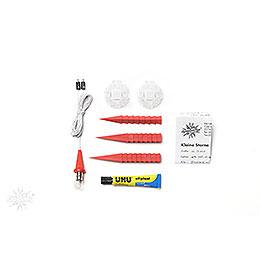 Herrnhuter Moravian Star DIY Kit A1b Red Plastic  -  13cm/5.1 inch