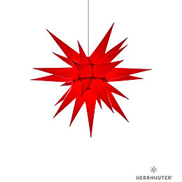 Herrnhuter Moravian Star I6 Red Paper  -  60cm / 23.6 inch