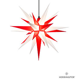 Herrnhuter Moravian star A7 white/red plastic  -  68cm/27inch