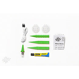 Herrnhuter Moravian star DIY kit A1b green plastic  -  13cm/5.1inch