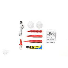 Herrnhuter Moravian star DIY kit A1b red plastic  -  13cm/5.1inch