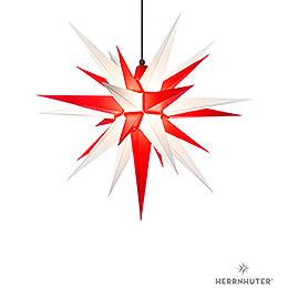 Herrnhuter Stern A7 weiss/rot Kunststoff  -  68cm