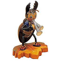 Hirschkäfer mit Schalmei  -  8cm