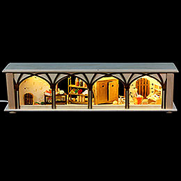Illuminated stand cellar for candle arches  -  50x12x10cm / 20x5x4inch