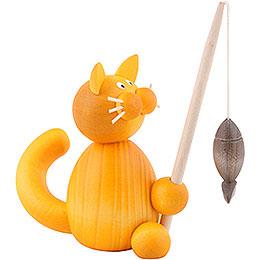 Katze Emmi mit Fisch  -  8cm