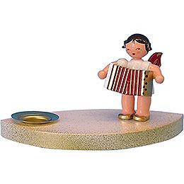 Kerzenhalter Engel mit Akkordeon  -  7cm