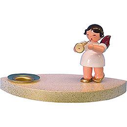 Kerzenhalter Engel mit Trompete  -  7cm