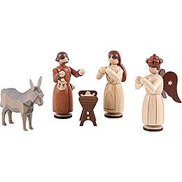 Krippenfiguren  -  Heilige Familie  -  13cm
