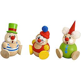 Kugelfiguren Clowny  -  3 - tlg.  -  6cm