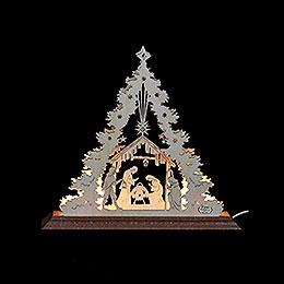 Lichterspitze  -  Mini - Tanne Christi Geburt  -  23x20x4cm