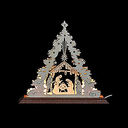 Light - Triangle  -  Nativity scene  -  23x20x4cm / 9x8x1,5inch