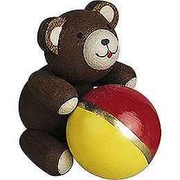 Lucky bear with ball  -  2,7cm / 1.1inch