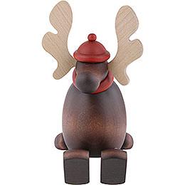 Moose Olaf Sitting on a Shelf  -  15cm / 5.9 inch