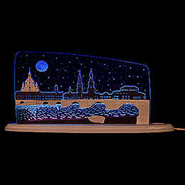 "Motive Light ""Dresden at Night""  -  47x22cm / 18.5x8.7 inch"