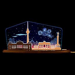 "Motive light ""Berlin at night""  -  47x21,7cm / 18.5x8.5inch"