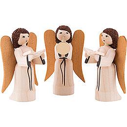 Nativity angels, set of three, glazed  -  7cm / 2.8inch