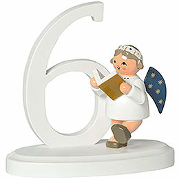 """Number """"6"""" with angel  -  7cm / 2.8inch"""