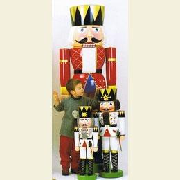 Nussknacker König weiß  -  90cm