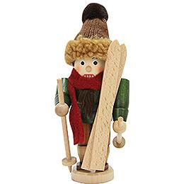 Nussknacker Skifahrer lasiert  -  18cm