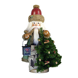 Nussknacker Weihnachtsmann Rustikal  -  100cm