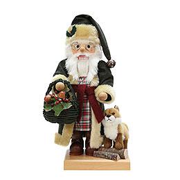 Nussknacker  -  Weihnachtsmann mit Fuchs Limitiert  -  46cm