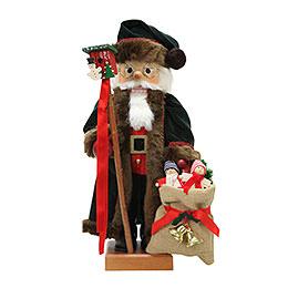 Nussknacker Weihnachtsmann tannengrün  -  46,5cm