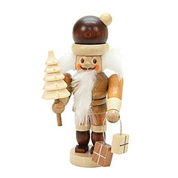 Nutcracker Mini Santa Claus natural colors  -  10,0cm / 4 inch