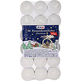 Pyramiden - Teelichter Premium, 36 Stück
