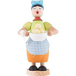 Räucherfrau mit Klösen  -  17cm