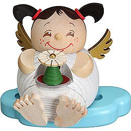 Räuchermännchen Engel mit Erzgebirgspyramide  -  10cm
