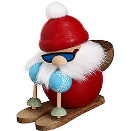 Räuchermännchen Nikolaus läuft Ski  -  10cm