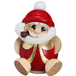 R�ucherm�nnchen Nikolaus rot - gold  -  11cm