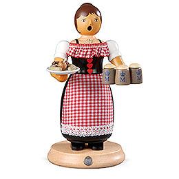 Räuchermännchen Oktoberfest Kellnerin  -  24cm
