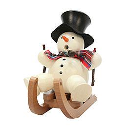 R�ucherm�nnchen Schneemann auf Schlitten  -  10,5cm