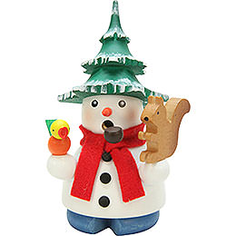 Räuchermännchen Schneemann mit Baum  -  11,5cm