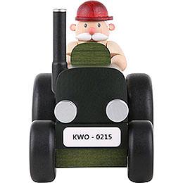 Räuchermännchen  -   Traktorfahrer mini  -  10cm