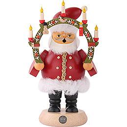 Räuchermännchen Weihnachtsmann mit Kerzenbogen  -  18cm