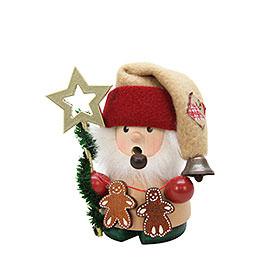 Räuchermännchen Weihnachtsmann mit Stern  -  10cm