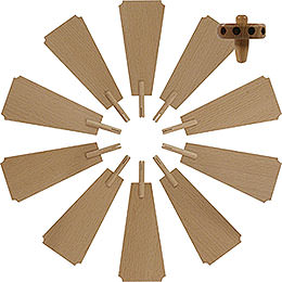 Replacement wheel with wings for Christmas Pyramid  -  diameter = 45cm / 18 inch