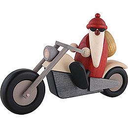 Santa Claus on motorcycle  -  11cm / 4.3inch