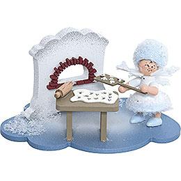 Schneeflöckchen in Weihnachtsbäckerei  -  10x7x6cm