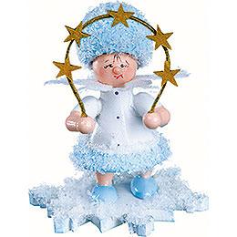 Schneeflöckchen mit Sternenbogen  -  5cm