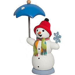 Schneemann mit Schirm  -  13cm