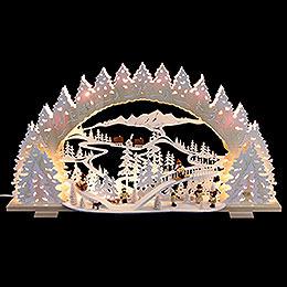 Schwibbogen  -  Rodeln auf dem Ziegenberg  -  72x41x13cm