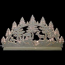 Schwibbogen Tiere im Wald  -  72x40x5,5cm