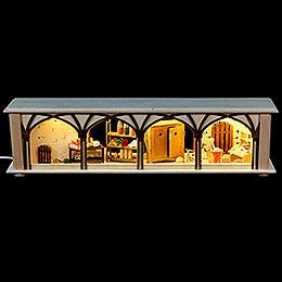 Schwibbogen - Unterbau/Raumleuchte Hauskeller  -  50x12x10cm