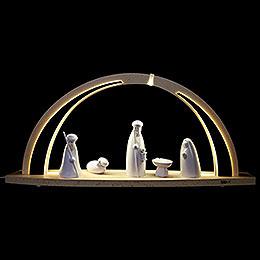 Schwibbogen modern wood LED - Bogen groß Christi Geburt  -  57x26x10cm
