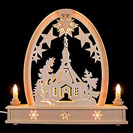Seidel Arch Seiffen Church  -  36x37cm / 14x15 inch
