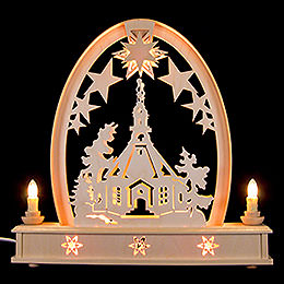 Seidelbogen Seiffener Kirche  -  36cmx37cm