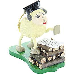 "Sheep ""Schlaubi"", holding a speech  -  6,5cm / 2.5inch"